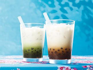 タピオカ冬瓜茶(トウガンチャ)ミルク・タピオカ抹茶ミルク
