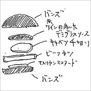 兵庫・加古川 デミグラ牛カツバーガー
