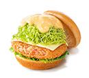 静岡・駿河湾水揚げ 桜えびコロッケバーガー スライスチーズ入り