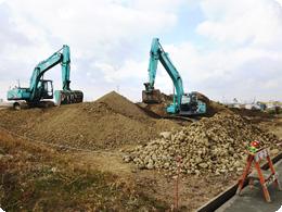 耕作放棄地を開墾中の畑。石がいっぱいです!