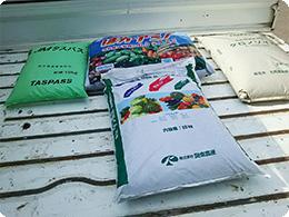 使用している有機肥料の数々