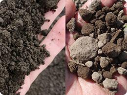 畑の位置により土質がことなる
