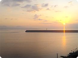 島原の夜明け
