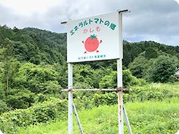 加子母トマト生産組合の看板