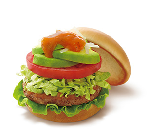 【期間限定】アボカドサラダバーガー 5種の野菜とレモンのソース