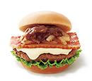 とびきりハンバーグサンド<国産ベーコン&チーズ>