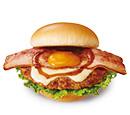 とびきりハンバーグサンド<薫るベーコン&クリーミーポテト>スライスチーズ入り